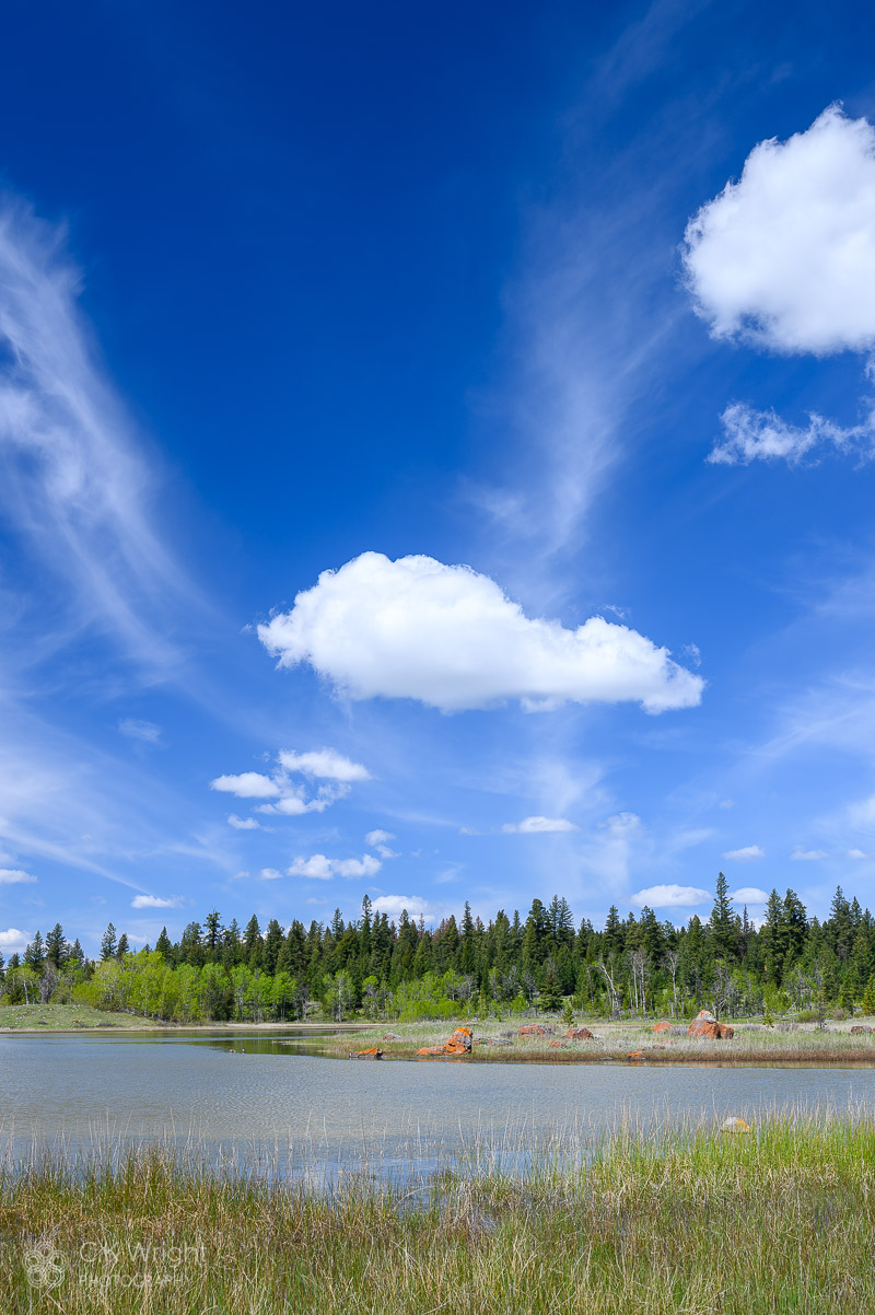 Clouds and Unnamed Lake, Cariboo
