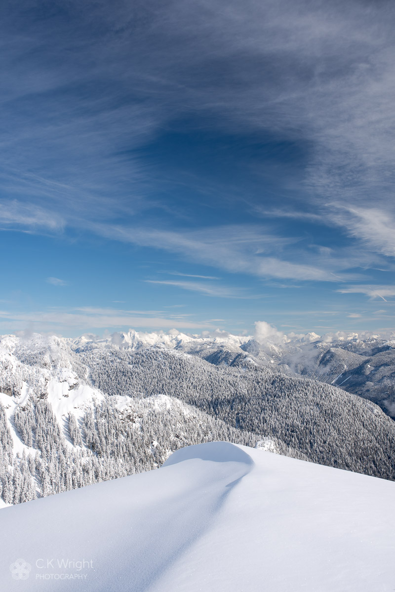 Snow Ridge and Mountains, Cypress Provincial Park