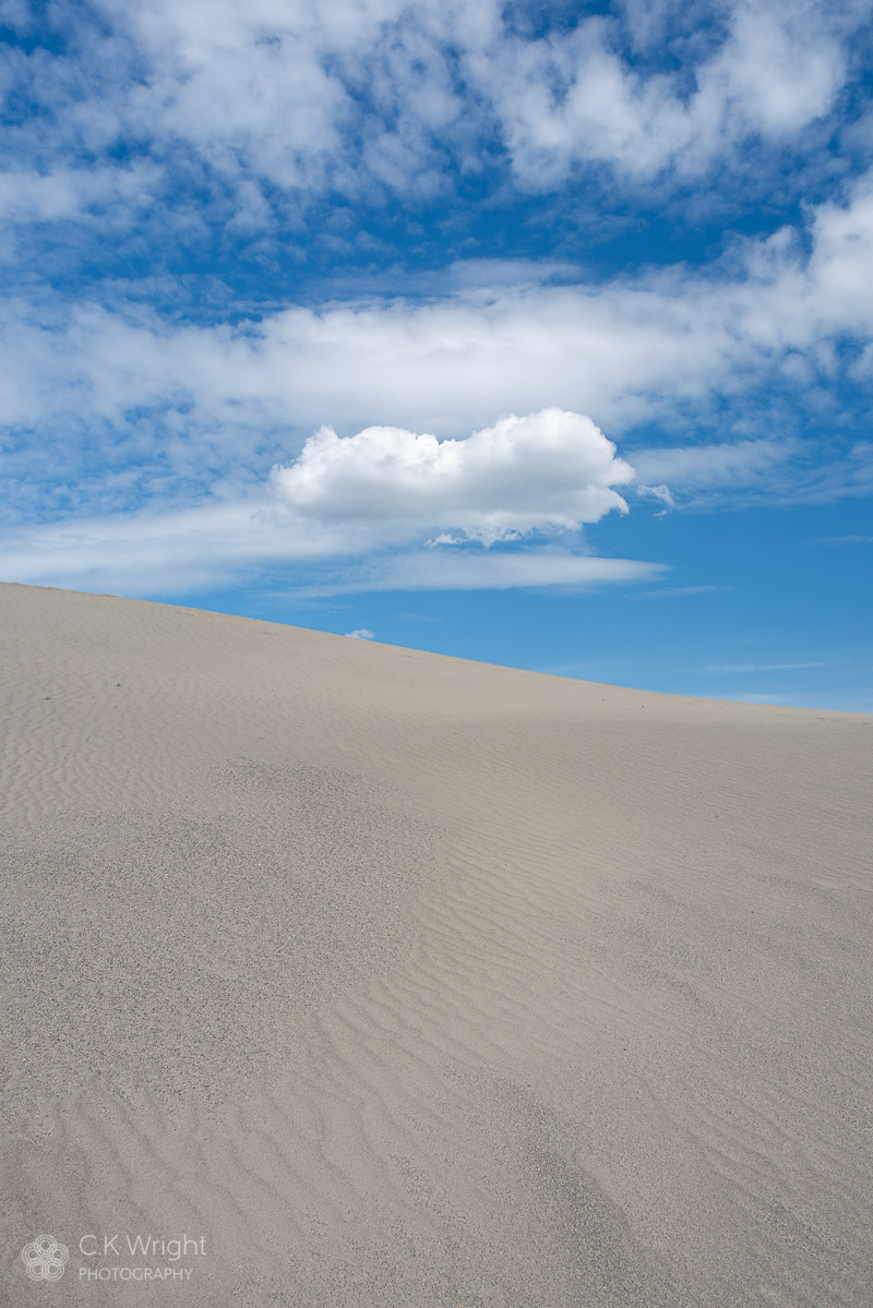 Lone Cloud at Farwell Canyon Sand Dunes